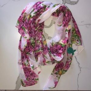 Giacomo Cinque Chic Flowered Summer Scarf